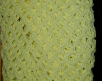 Yellow Colored Crocheted Shawl- CLEARANCE- Original 24.99