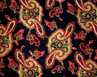 Black Paisley Print Blanket