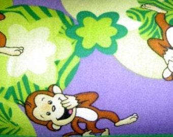Laughing Monkey Print Pillow
