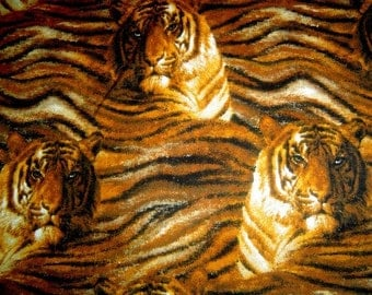 3D Tiger Faces Print Pillow