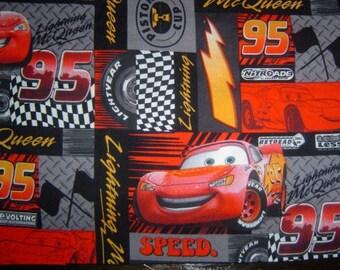 Hand Crafted Lightning McQueen Print Pillow