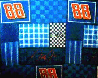 Hand Crafted Dale Jr. Number 88 Cuddle Print Pillow