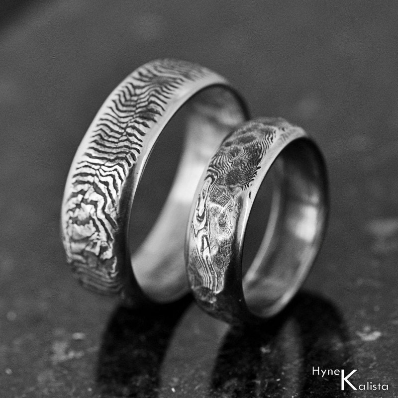 View Full Gallery Of Unique Engagement Rings Wedding Rings: Unique Wedding Band Mens Ring Womens Ring Hand Forged