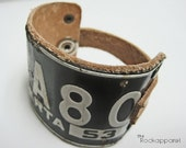 Vintage Tag Wristband Handmade One-of-a-kind