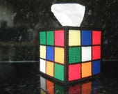 RUBIK'S  Rubik Cube Tissue Box Cover Big Bang Theory-hit US tv sitcom-Rubix