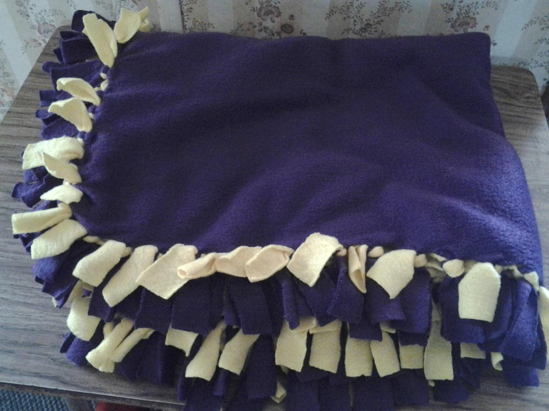 Adult hand tied fleece blanket