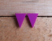 Triangle Studs - Grape