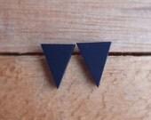 Triangle Studs - Navy
