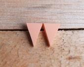 Triangle Studs - Peach