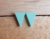 Triangle Studs - Mint