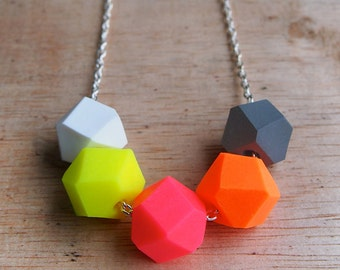 Endless Summer Geo Pop necklace