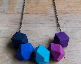 Purple Rain Geo Pop necklace