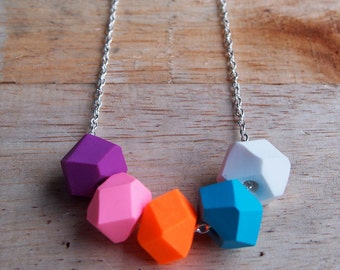 Sherbert Bomb Geo Pop necklace