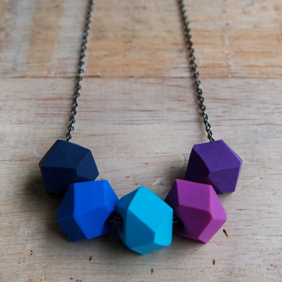 Purple Rain Geo Pop necklace