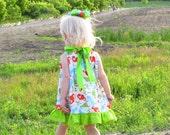 Pillowcase Dress - Tiny Dinosaurs Bow Back Dress