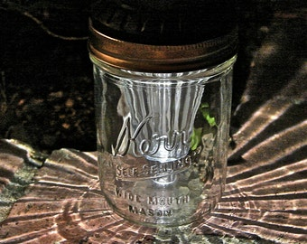 Hand Made Mason jar Wide Mouth Solar Lids - Four Pieces - Fits All Wide Mouth Mason Jars