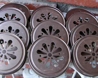 Daisy Cut Mason Jar Lids - Bronze 24  Lids Only ....DLB-24