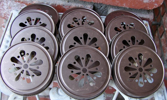 Daisy Cut Mason Jar Lids - Bronze 1  Lid Only...DL1B