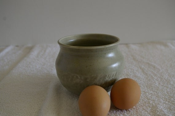 Carved Stoneware Pot