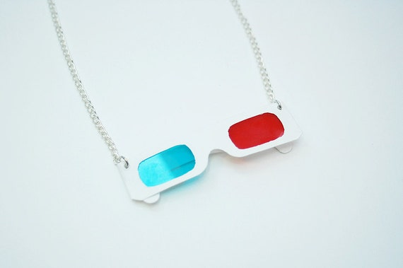 10th Doctor 3D Glasses necklace