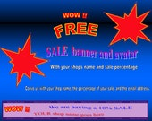 Free Sale  banner and avatar Try a marketing promotion at NO cost to you