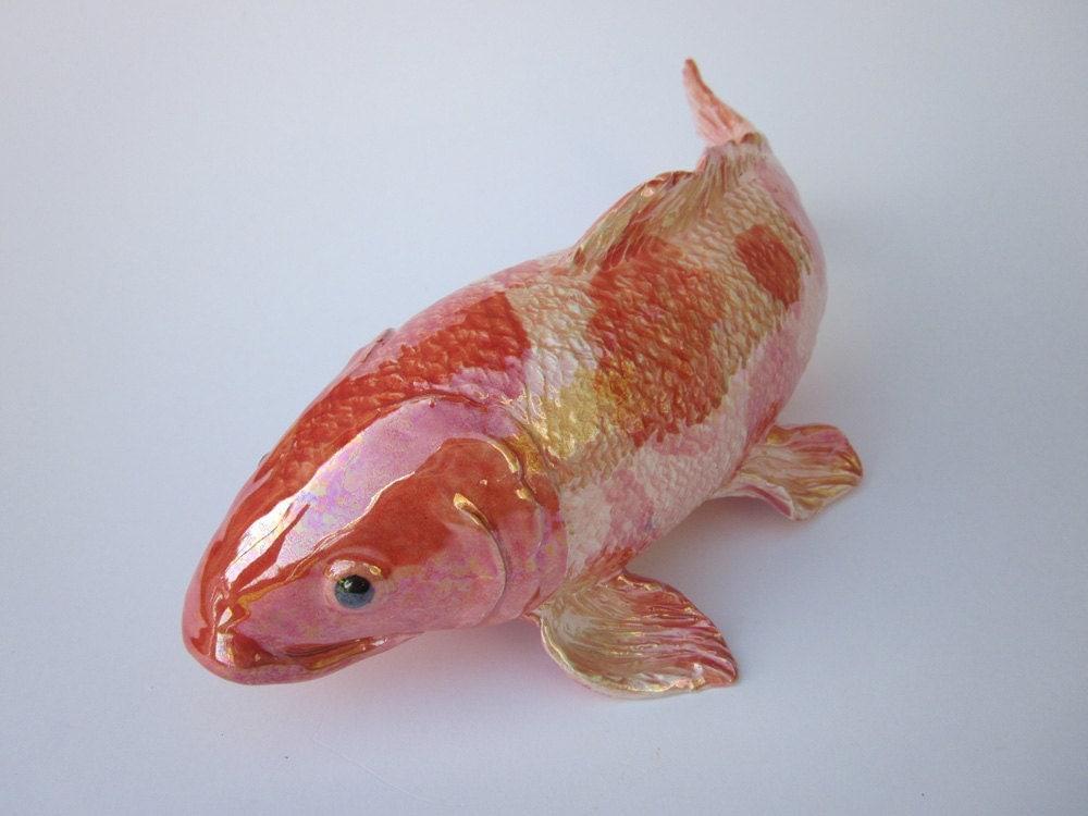 Koi fish sculpture handmade for Koi pond mold