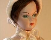 Bianca White Lady, OOAK art doll historical costume, porcelain doll