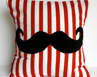 Quirky Furry Moustache cushion