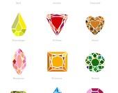 DIAMONDS ART PRINT 5x7