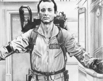 Peter Venkman - Ghostbusters (Bill Murray) Drawing Print