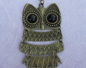 Vintage Fashion Long Owl Necklace