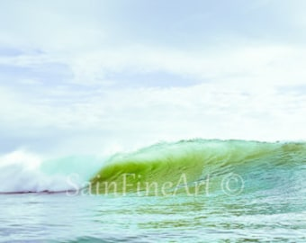 "Wave of Rainbows - Wave Art - Ocean Art - Surf Art - Fine Art Photography  10""X4"" - Home Decor"
