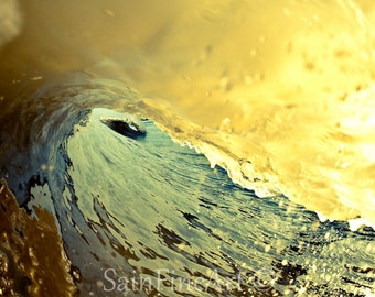 "Inside Looking In - Ocean Art - Wave Art - Surf Art - Fine Art Photography  8""X8"" - Home Decor"