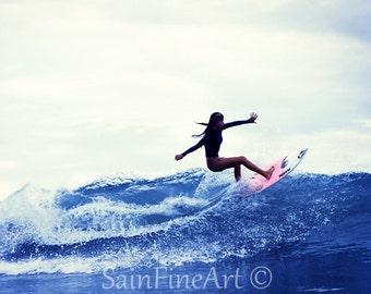 "Five Fingers - Surf Art - Fine Art Photography  8""X8"""