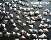 80 Pcs - 7MM DIY Pyramid Flat Back Studs - Save 15% Use  Coupon Code: 28994 - Iron On Studs - GUNMETAL - Great for All Projects - Fast Ship