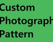 Custom Cross stitch. You choose the photograph or picture I send you the PDF Cross stitch pattern chart. Sent by Email