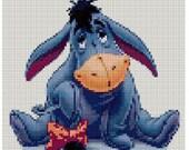INSTANT DOWNLOAD Eeyore Cross stitch pattern chart PDF Winnie the pooh