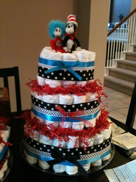 Items Similar To Dr Seuss Diaper Cake On Etsy