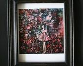 In Love - art print of original painting by Katia Goa, great wall art, pink