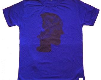 Navy blue Mens T-shirt , for him, eco friendly, clothing, organic, silkscreen, fair trade clothing, boyfriend tshirt