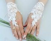 White lace gloves, white lace cuffs, collar, wrist cuffs and white wedding gown, off white cuffs, cuff wedding bride, bridal gloves, Ivory-,