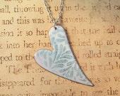 Elegant Heart Hand Torched Enamel Necklace