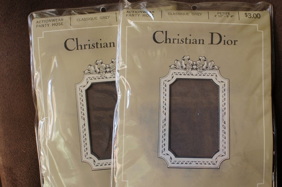 Estate Sale Find - Christian Dior Pantyhose - set of 2 - package never opened