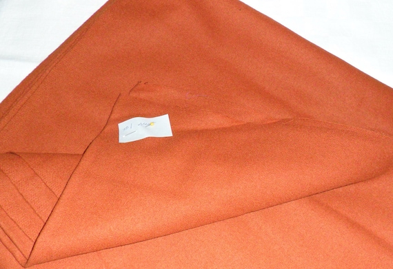 Orange/Rust Wool Cloth 56 inches x 56 inches