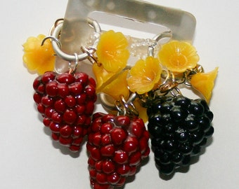 flower and berry brooch