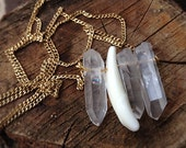 The Original Crystal Quartz and Wolf Tooth Necklace