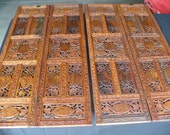 PRICE REDUCED...Hand Carved Brass Inlaid (Inlayed) Wood Panels from India