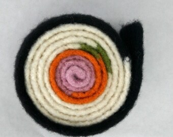 Felted Sushi-Roll Scarf Crochet Pattern