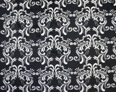 Black and White Cuddle Minky Damask Print by Shannon Fabrics priced by the yard