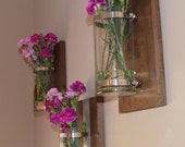 Candle Sconce/ Wall Vase made from Poplar Wood